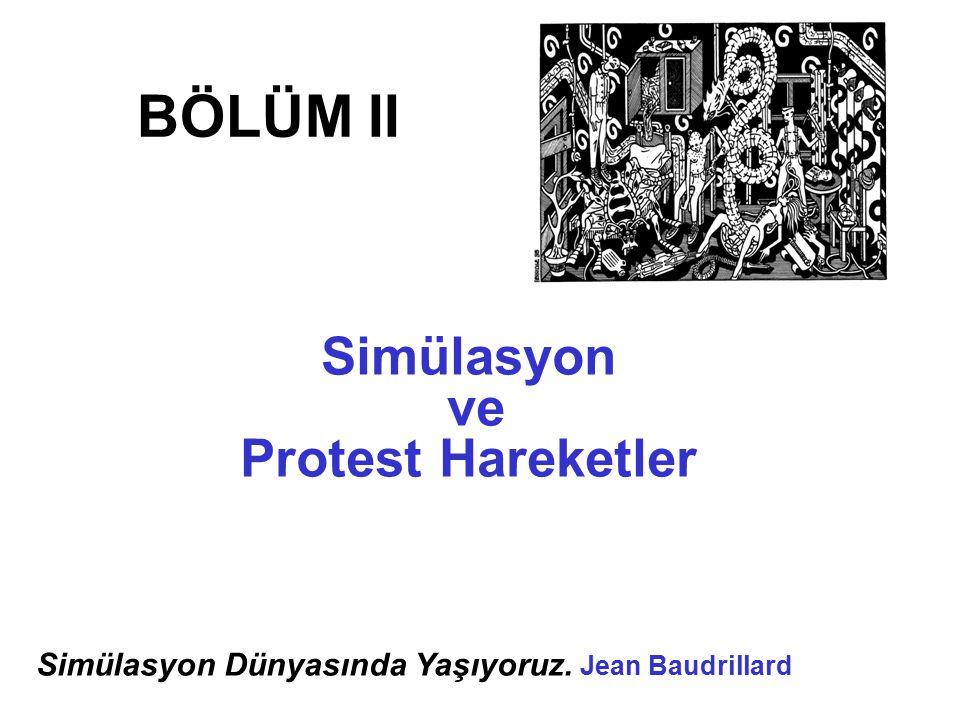 BÖLÜM II Simülasyon ve Protest Hareketler Simülasyon Dünyasında Yaşıyoruz. Jean Baudrillard