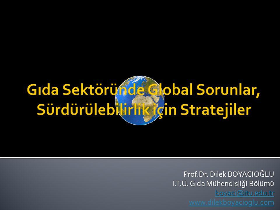 Prof.Dr. Dilek BOYACIOĞLU İ.T.Ü. Gıda Mühendisliği Bölümü boyaci@itu.edu.tr www.dilekboyacioglu.com