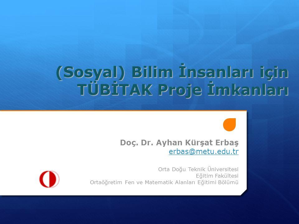 Projelerde Görev Alma Limitleri 278 sayılı Türkiye Bilimsel ve Teknolojik Araştırma Kurumu Kanunun 16.