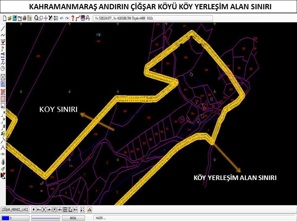 100 m Sınır ile en dıştaki ev arasında en az 100 m mesafe vardır.