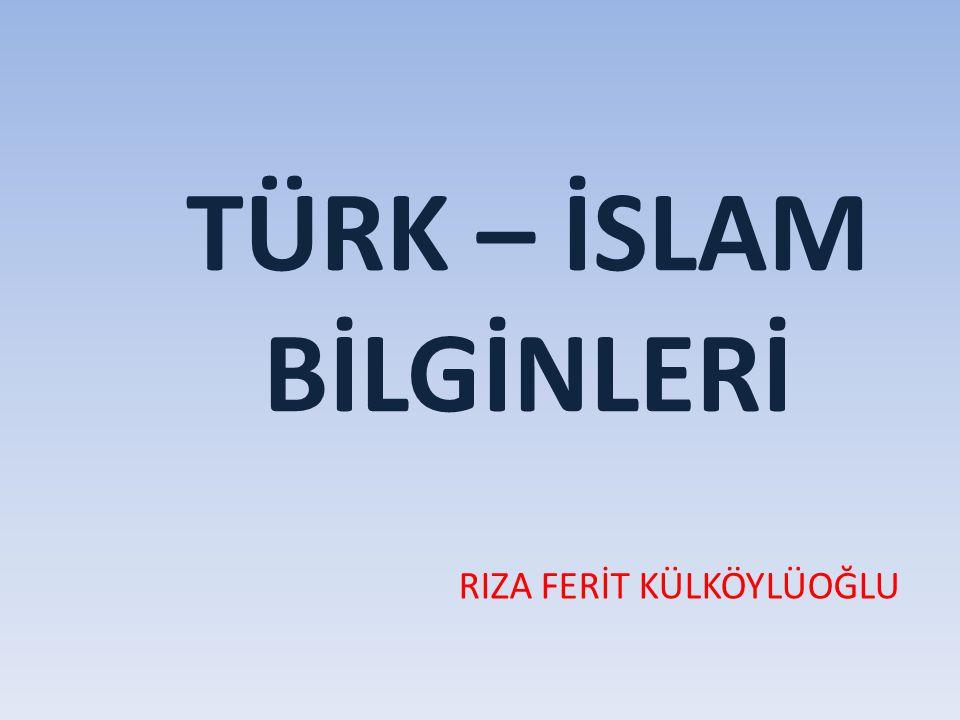 EL-HAREZMİ Cebir alanında ilk eser yazan Müslüman Türk bilginidir 780 yılında Harezm'de doğdu.