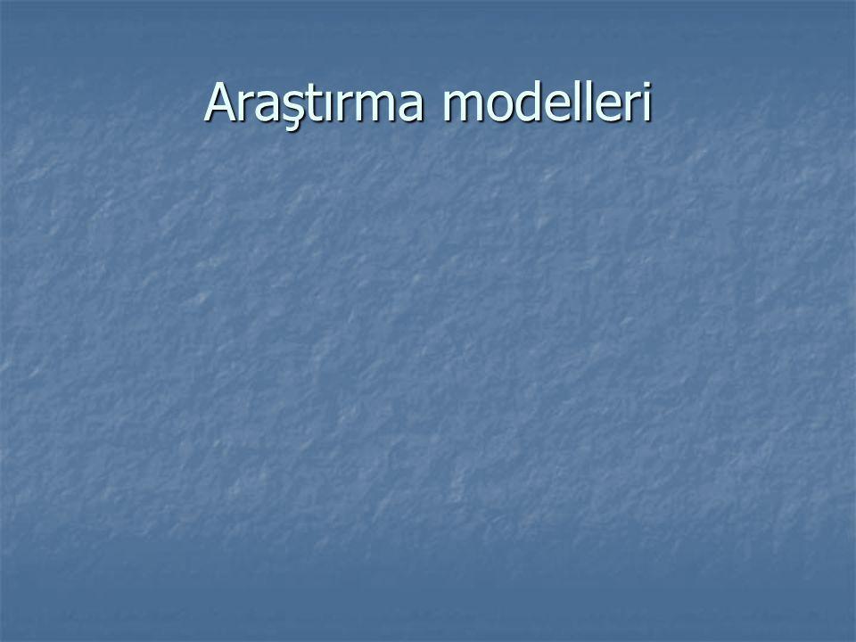 Araştırma modelleri