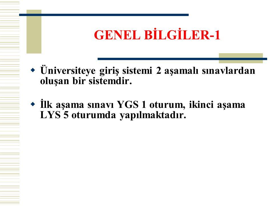  Üniversiteye giriş sistemi 2 aşamalı sınavlardan oluşan bir sistemdir.