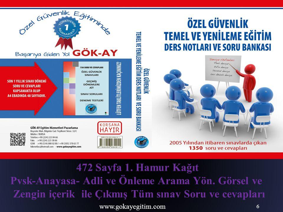 www.gokayegitim.com 117 SİLAHSIZ ADAYLAR İÇİN TEST BİTMİŞTİR.