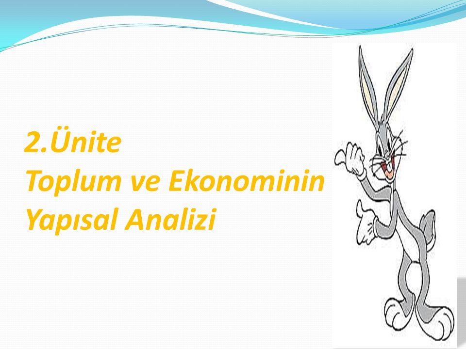 2.Ünite Toplum ve Ekonominin Yapısal Analizi