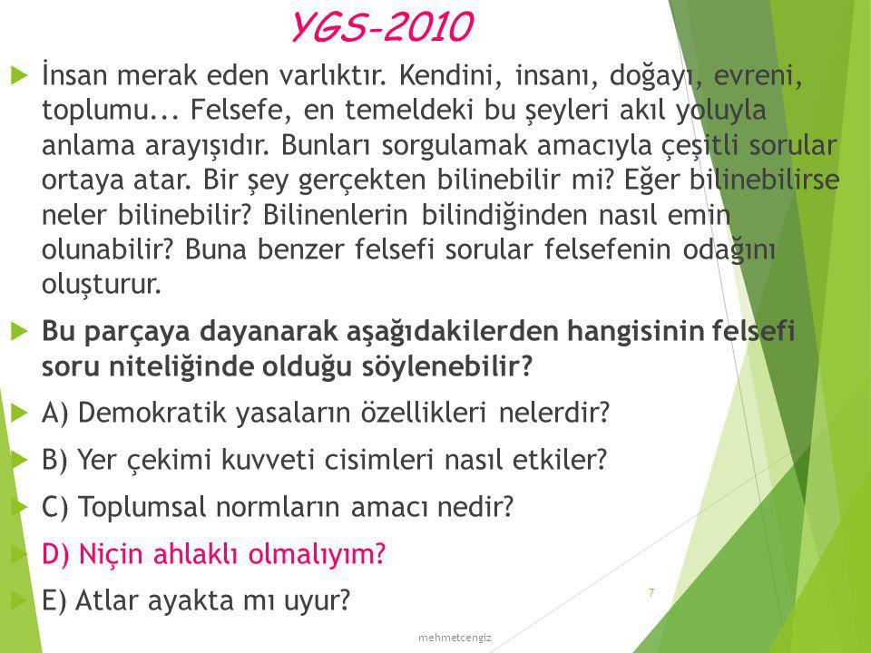 YGS-2012  Neden iyilik yapmalıyım.