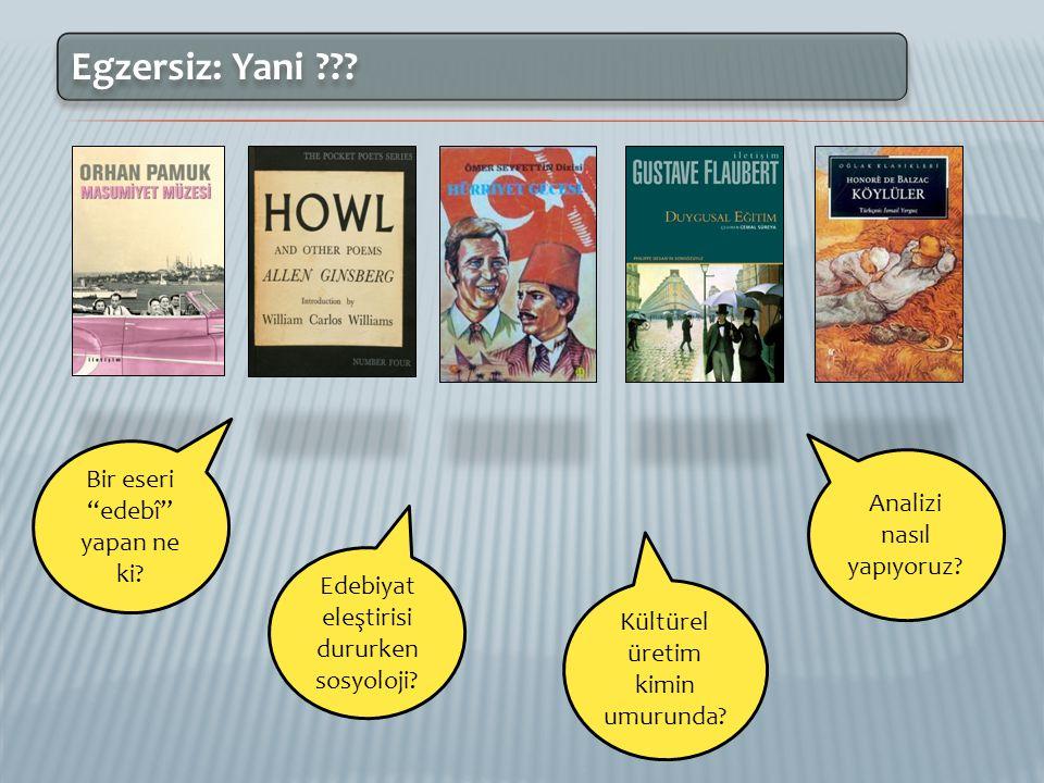 1. Neye Edebiyat Deriz in Sosyolojisi Olgusal olandan ayrı, kurgusal / hayal ürünü olan.