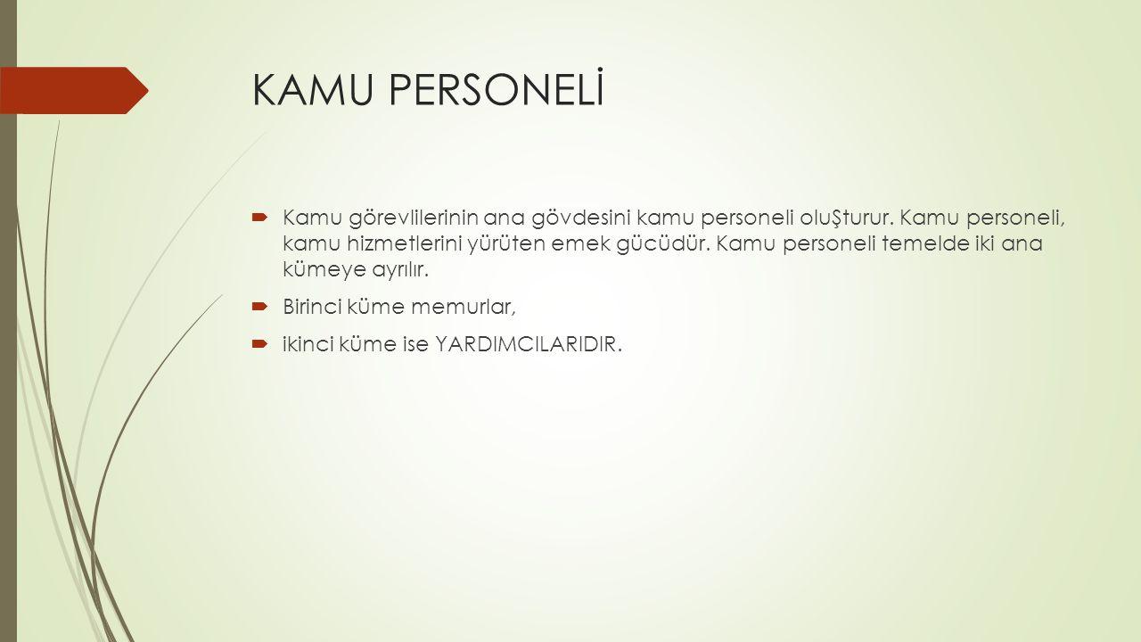  Bu kuramsal ayrım, Türk kamu personel hukuku özelinde açıklanmaya muhtaçtır.