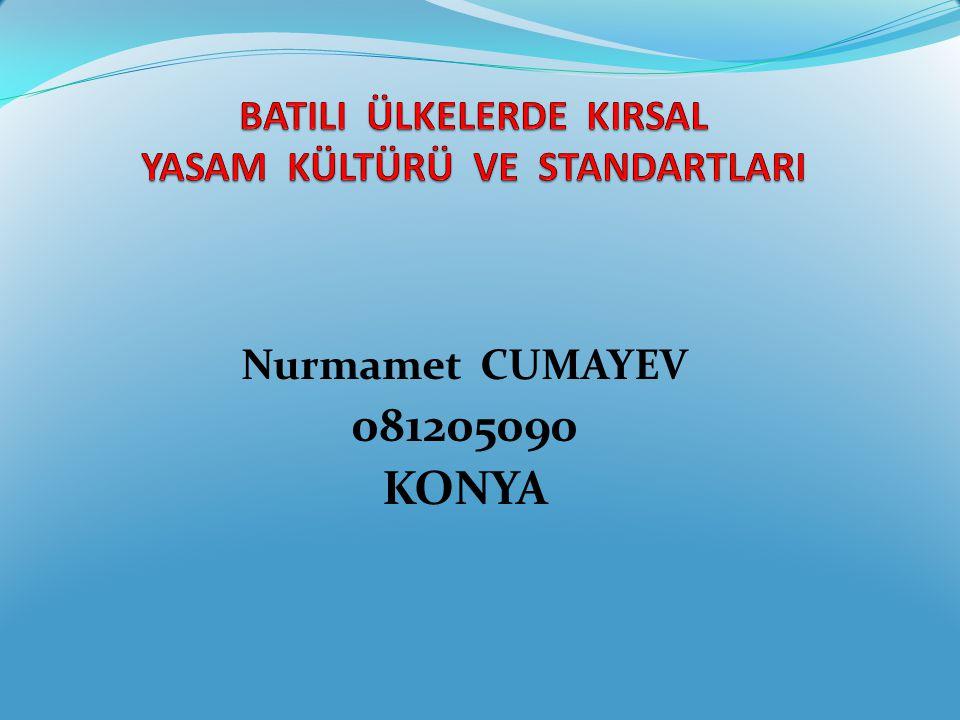 Nurmamet CUMAYEV 081205090 KONYA