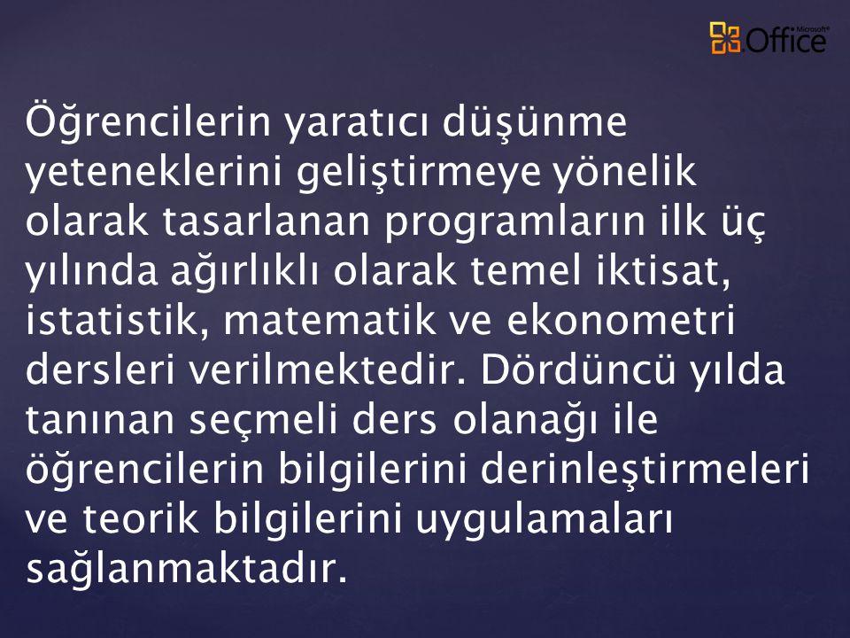 Türkiye'deki üniversitelerin iktisat bölümleri arasındaki yeri: 96 üniversite arasında 9.