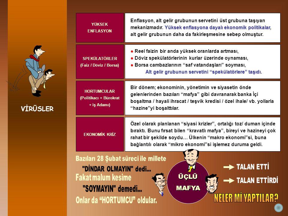Türkiye'de: 236 kat En üsteki % 1'lik grup ile, en alttakiler arasındaki fark: 236 kat.İstanbul'da: 322 kat En zengin % 1'lik kesim ile, en yoksul % 1'lik arasındaki fark: 322 kat.