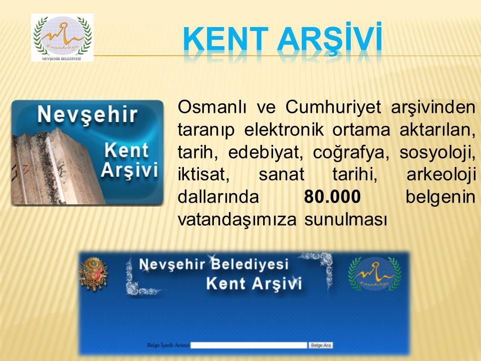 Osmanlı ve Cumhuriyet arşivinden taranıp elektronik ortama aktarılan, tarih, edebiyat, coğrafya, sosyoloji, iktisat, sanat tarihi, arkeoloji dallarında 80.000 belgenin vatandaşımıza sunulması