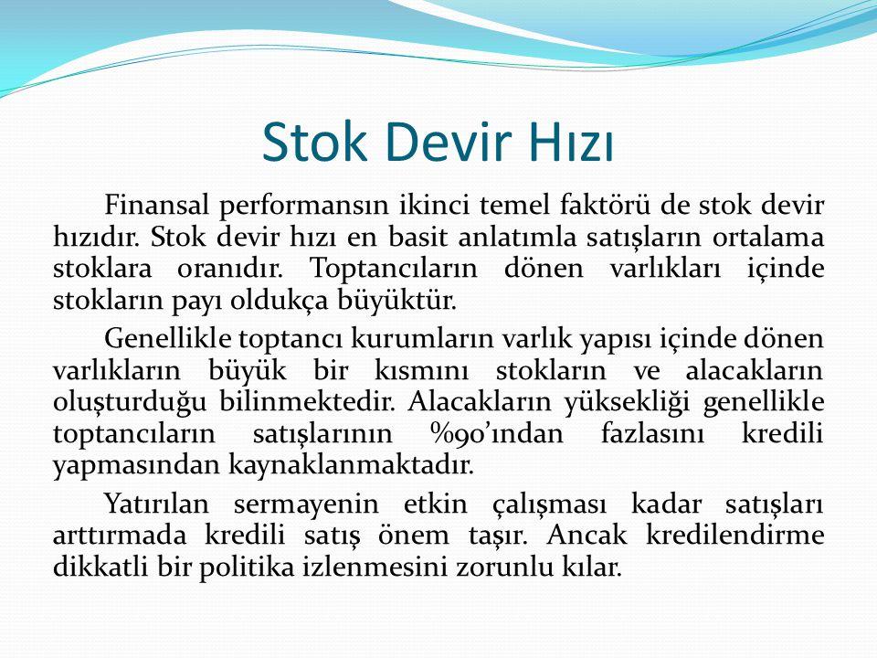 Stok Devir Hızı Finansal performansın ikinci temel faktörü de stok devir hızıdır.