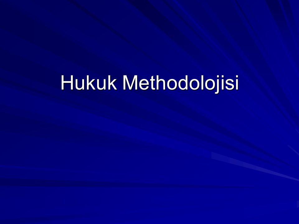 Hukuk Methodolojisi