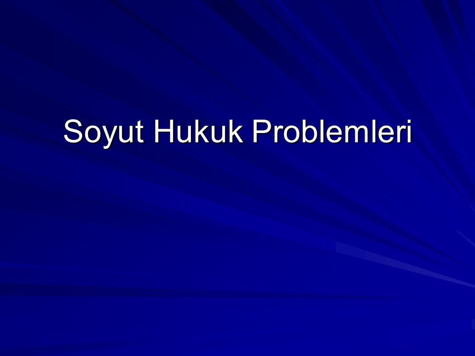 Soyut Hukuk Problemleri