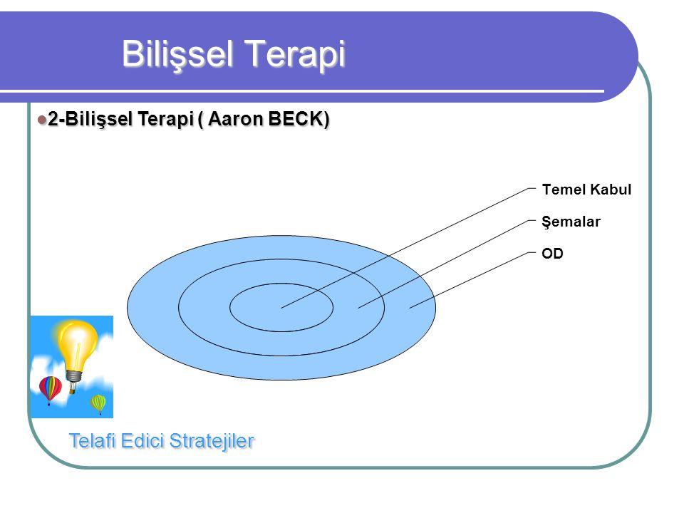 Bilişsel Terapi Temel Kabul Şemalar OD Telafi Edici Stratejiler 2-Bilişsel Terapi ( Aaron BECK) 2-Bilişsel Terapi ( Aaron BECK)