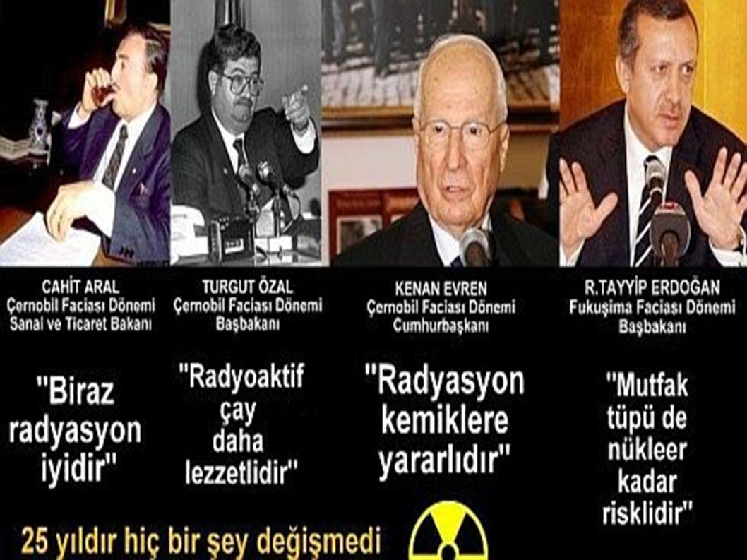 Nükleer enerji kaynaklı etkilenim Kazalar Nükleer santral yakınlarında yaşayanlar Olağan Dışı Durumlar (deprem, kasırga vb.) Atıklar Nükleer santrallerde çalışanlar Savaşlar / Nükleer silahlar
