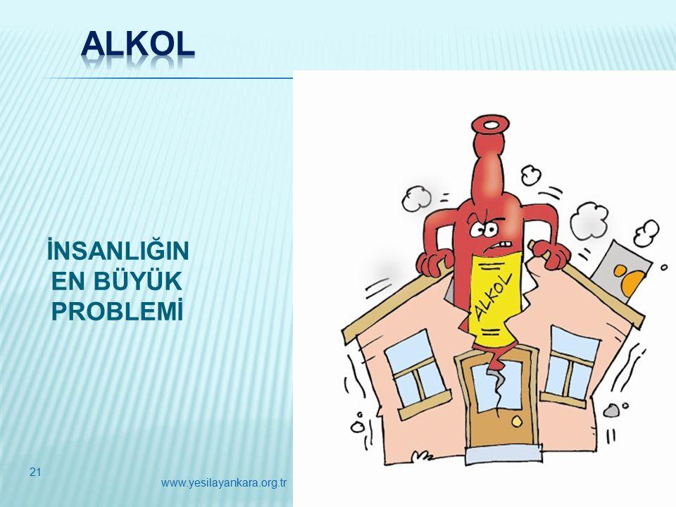 İNSANLIĞIN EN BÜYÜK PROBLEMİ 21 www.yesilayankara.org.tr
