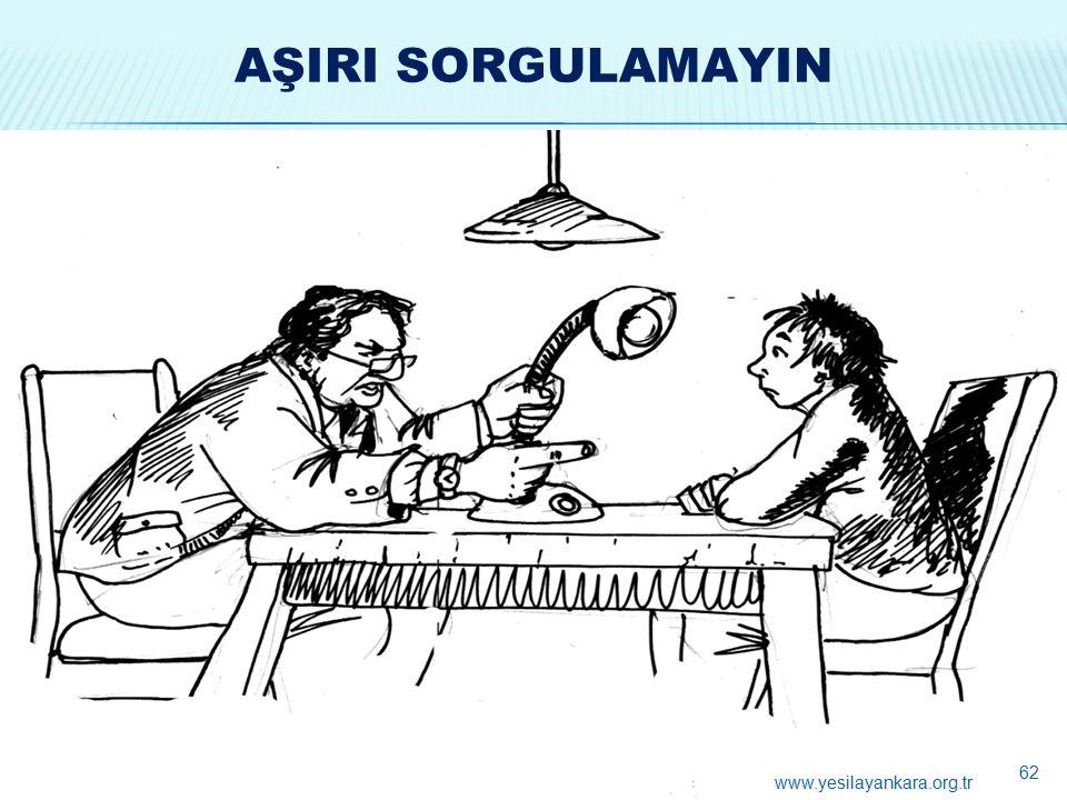 AŞIRI SORGULAMAYIN 62 www.yesilayankara.org.tr