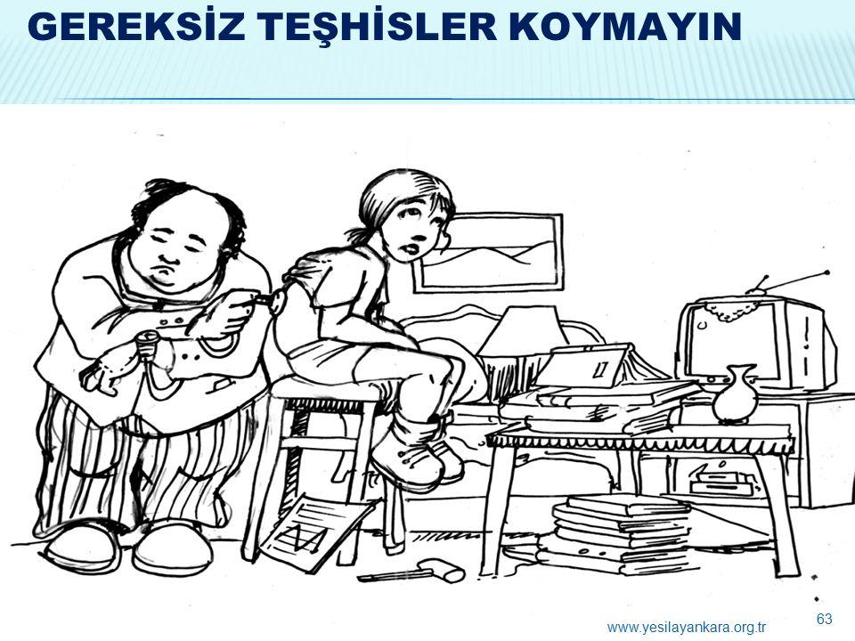 GEREKSİZ TEŞHİSLER KOYMAYIN 63 www.yesilayankara.org.tr