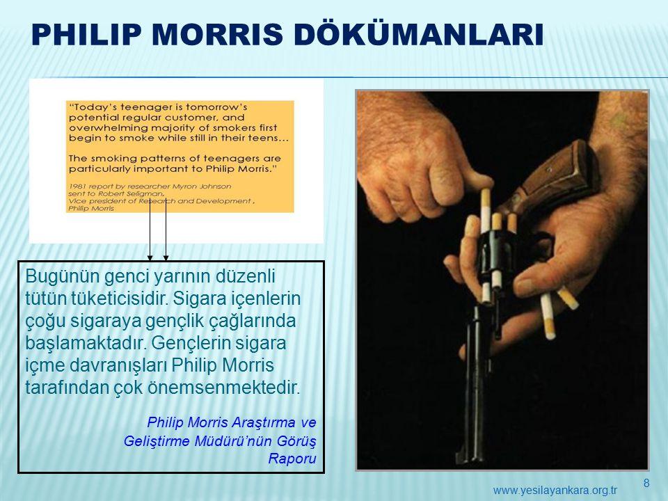 PHILIP MORRIS DÖKÜMANLARI Bugünün genci yarının düzenli tütün tüketicisidir.