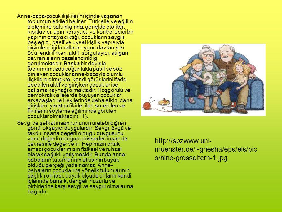 Anne-baba-çocuk ilişkilerini içinde yaşanan toplumun etkileri belirler. Türk aile ve eğitim sistemine bakıldığında, genelde otoriter, kısıtlayıcı, aşı