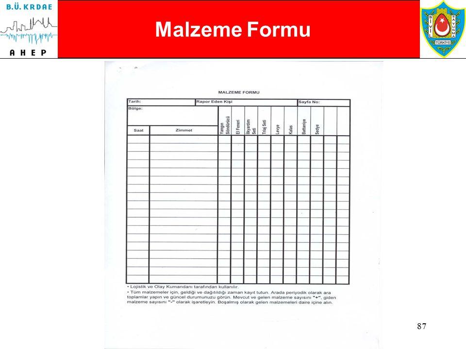 86 Personel Kayıt Formu