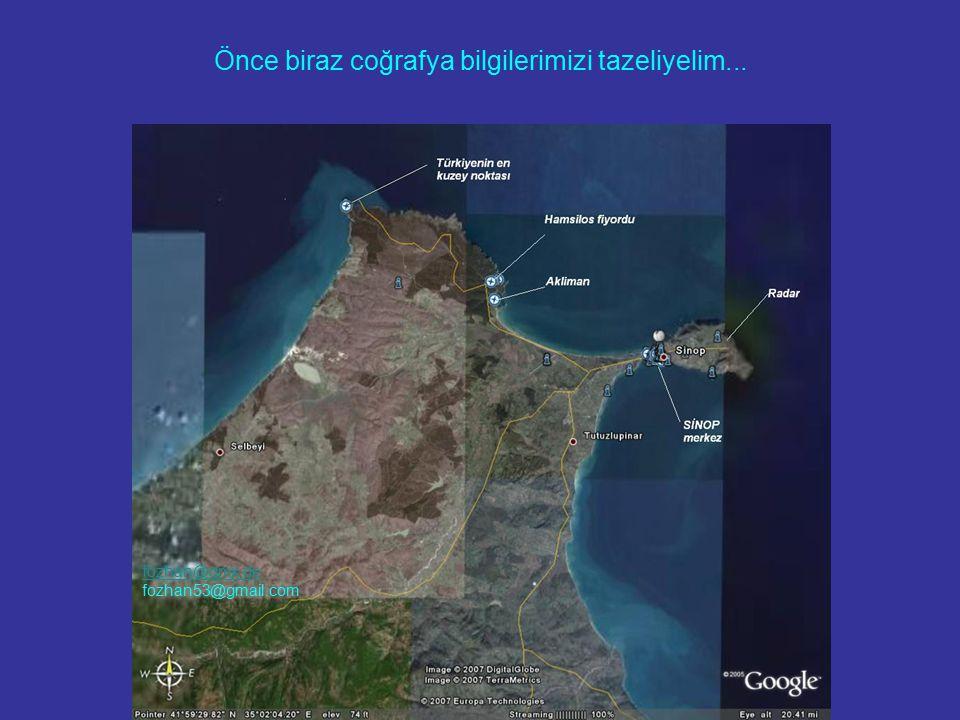 Sinop'a giderken keyif alabilmek için bir mola verip Boyabat'ın tepelerine şöyle uzaktan uzun uzun mutlaka bakın.