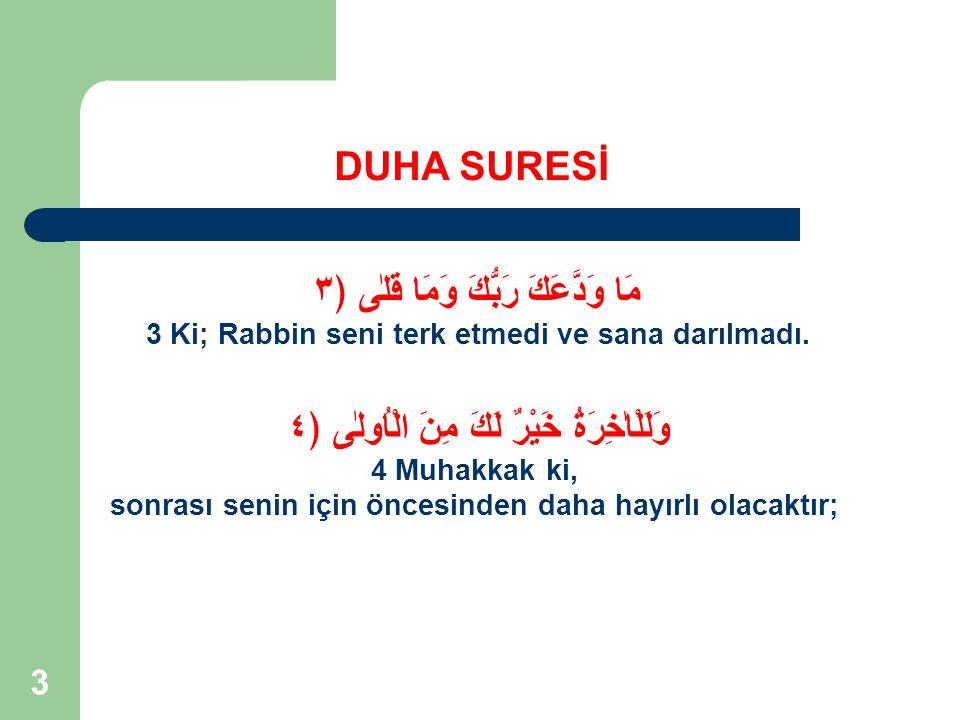 14 DUHA SURESİ Kur'an'da Niye Yemin Edilir.2.