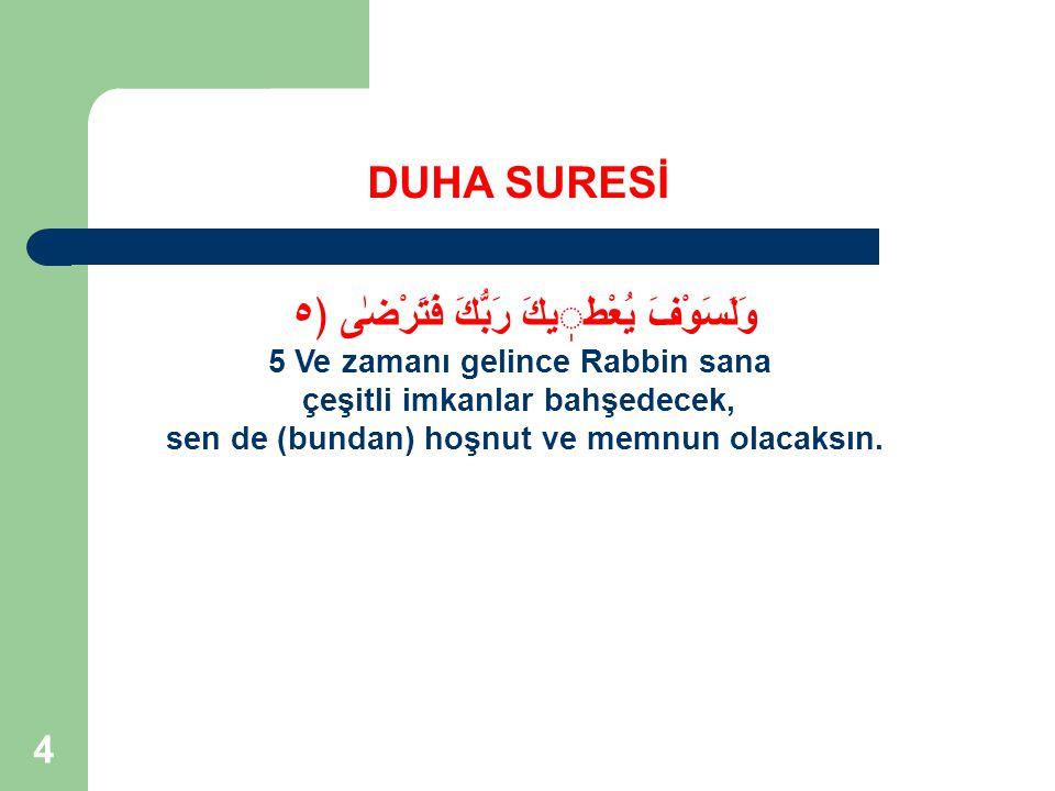 45  Allah'ın Nimeti anlatılmalı  Rabbinin nimeti sayesinde (karşılığında) gerçeği anlat.