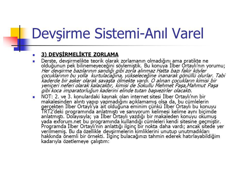 Osmanlı İmtiyazlı Eyaletleri 1.