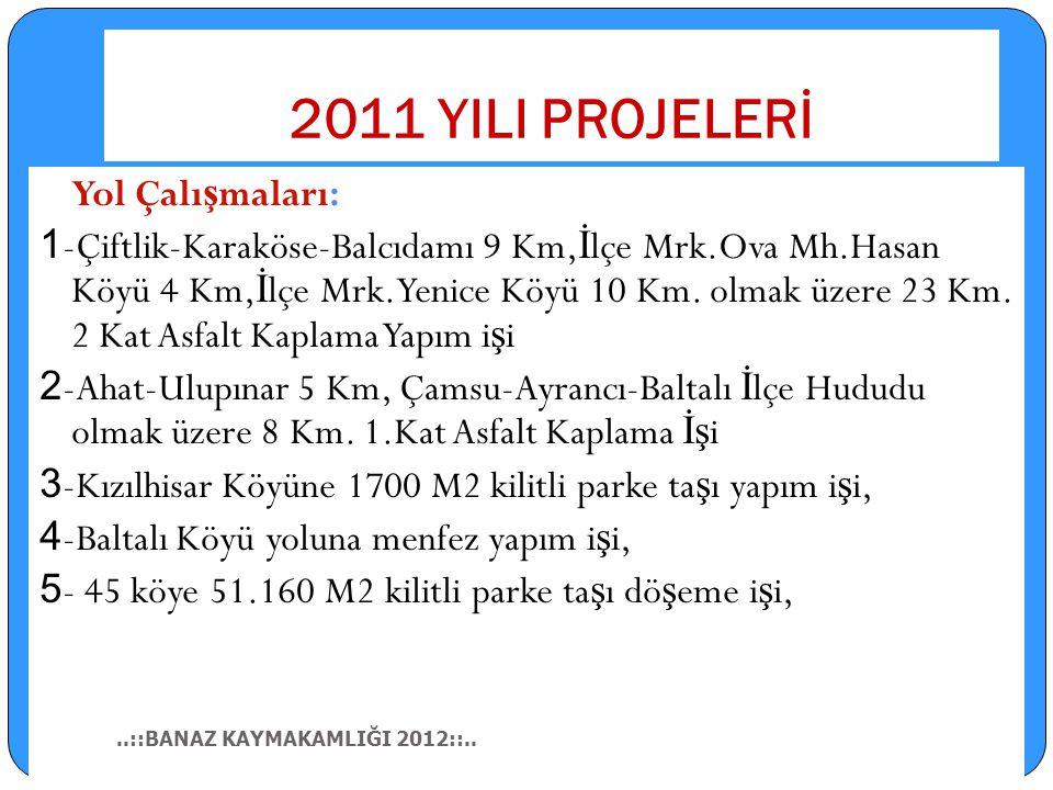 Kanalizasyon ve Di ğ er Çalı ş maları: 1-İ ller Bankası Köy Kalkınma Paylarından tahsis edilen ödenekler ile İ lçemizin; 2- Kavacık Köyü Kanalizasyon