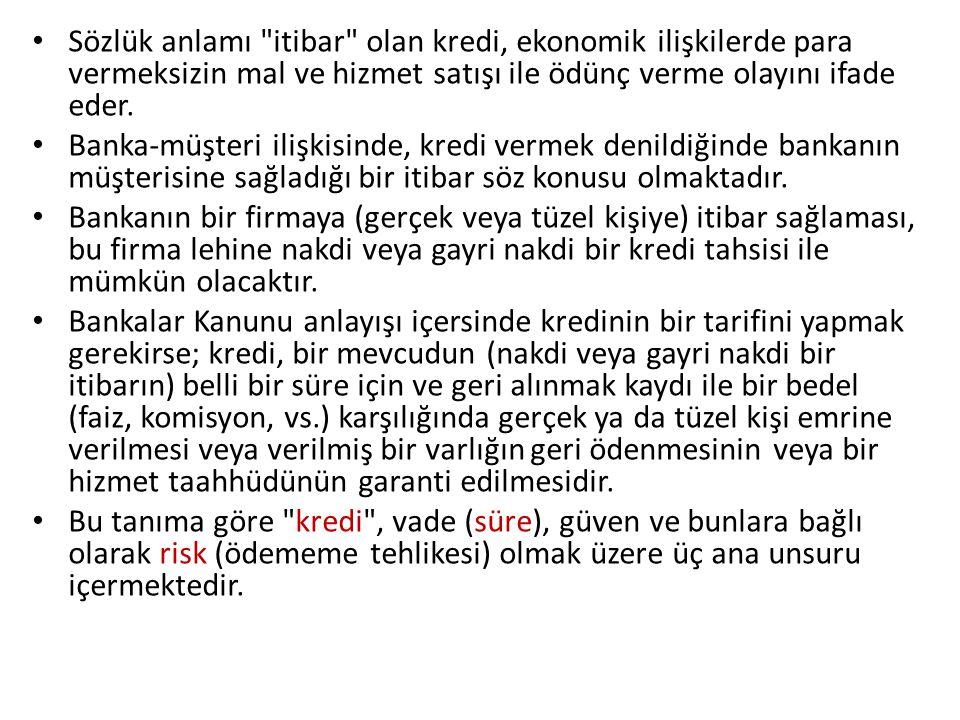 Vade Bankalarca ödünç verilen paranın ve temin edilen itibarın, belirli bir süre sonra iade edilmesini ifade eder.