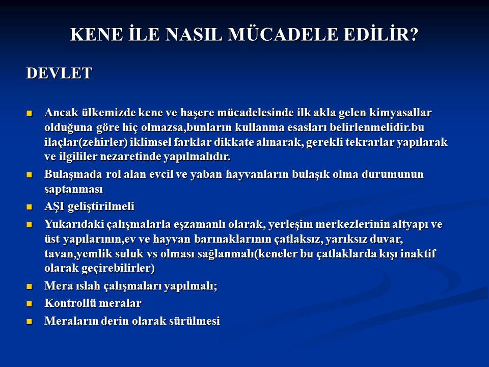 Doç Dr.Celalettin R. ÇELEBİ & Dr. Nalan AKYOL KENE İLE NASIL MÜCADELE EDİLİR.