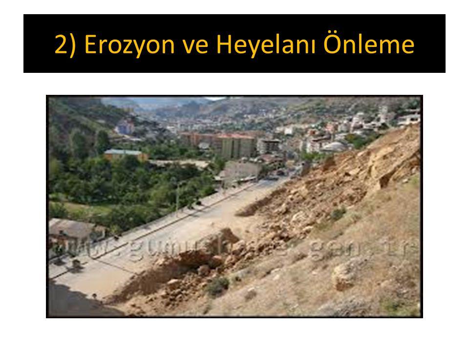 2) Erozyon ve Heyelanı Önleme