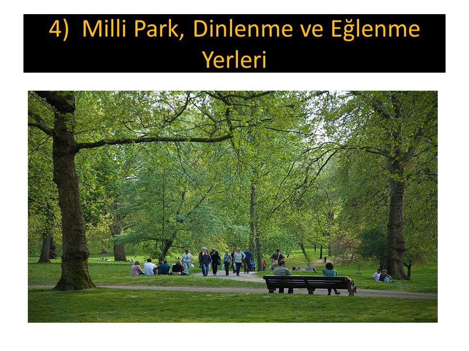 4) Milli Park, Dinlenme ve Eğlenme Yerleri