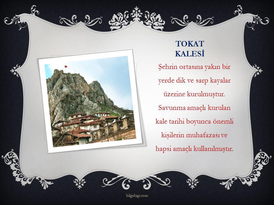 TOKAT KALESİ Şehrin ortasına yakın bir yerde dik ve sarp kayalar üzerine kurulmuştur. Savunma amaçlı kurulan kale tarihi boyunca önemli kişilerin muha