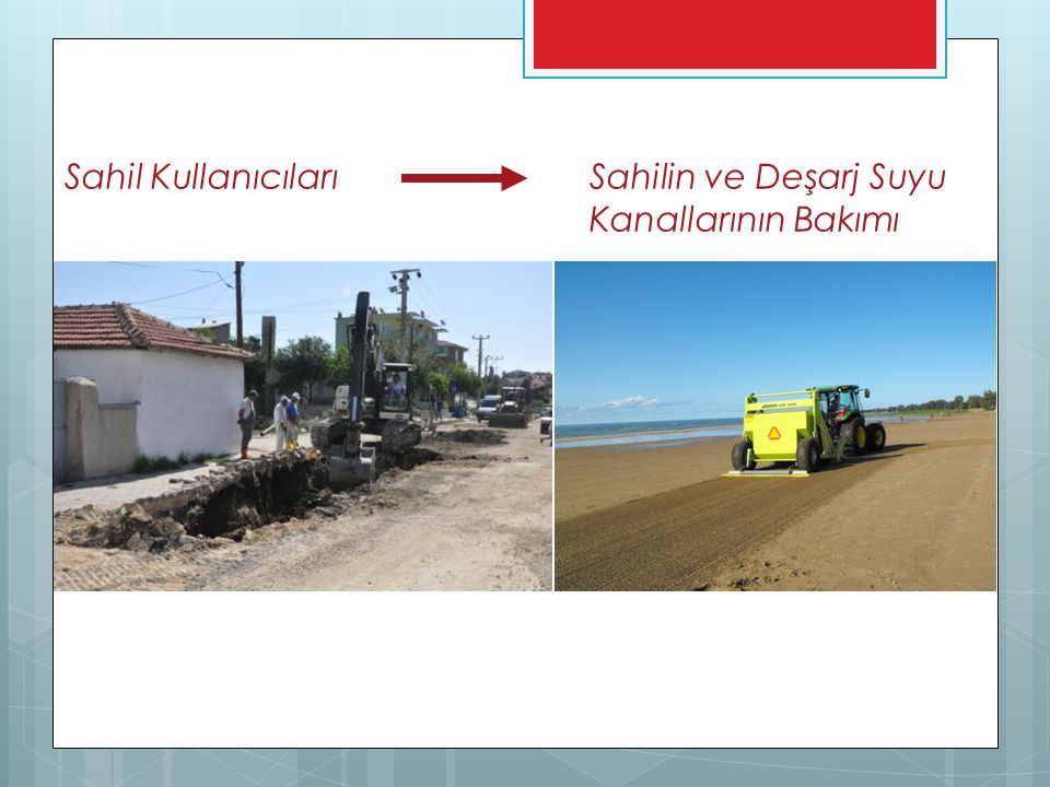 Sahil KullanıcılarıSahilin ve Deşarj Suyu Kanallarının Bakımı