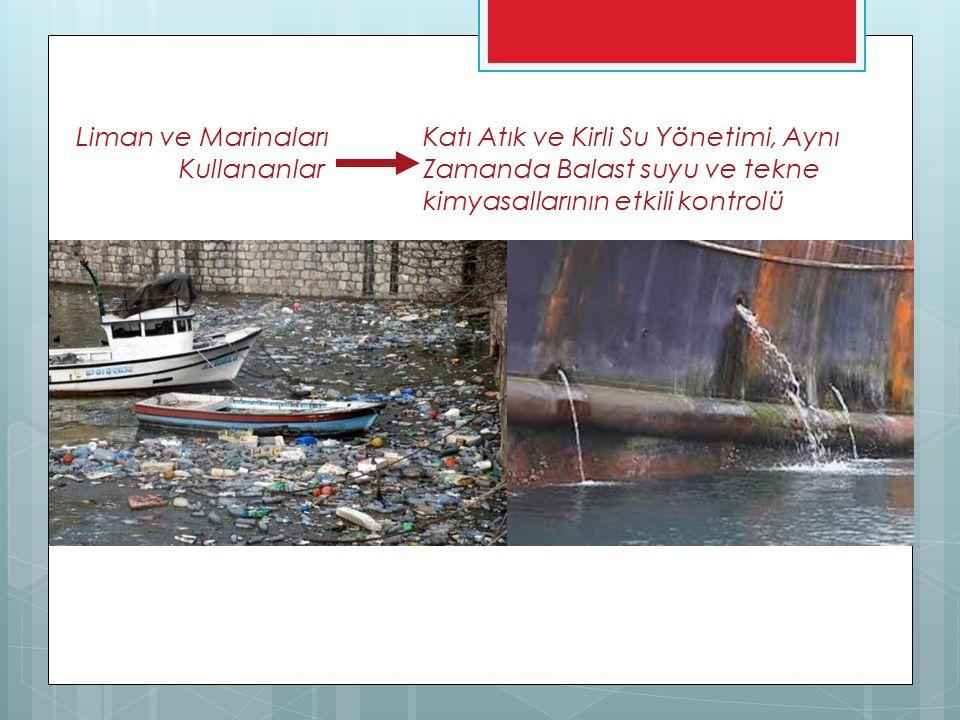 Liman ve Marinaları Katı Atık ve Kirli Su Yönetimi, Aynı Kullananlar Zamanda Balast suyu ve tekne kimyasallarının etkili kontrolü