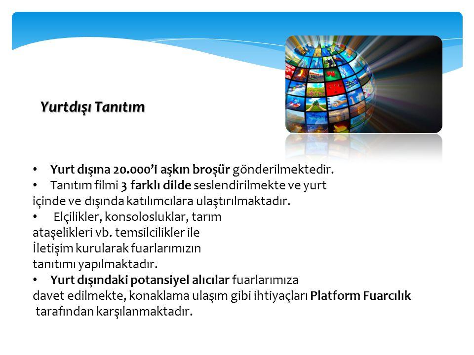 Ç eşitli ülkelerden gelen alım heyetleri fuarı ziyaret etmekte ve Türk katılımcılarla gerçekleştirilen ikili görüşmelerde ithalat ve ihracat bağlantıları kurulması için olanak yaratılmakta.