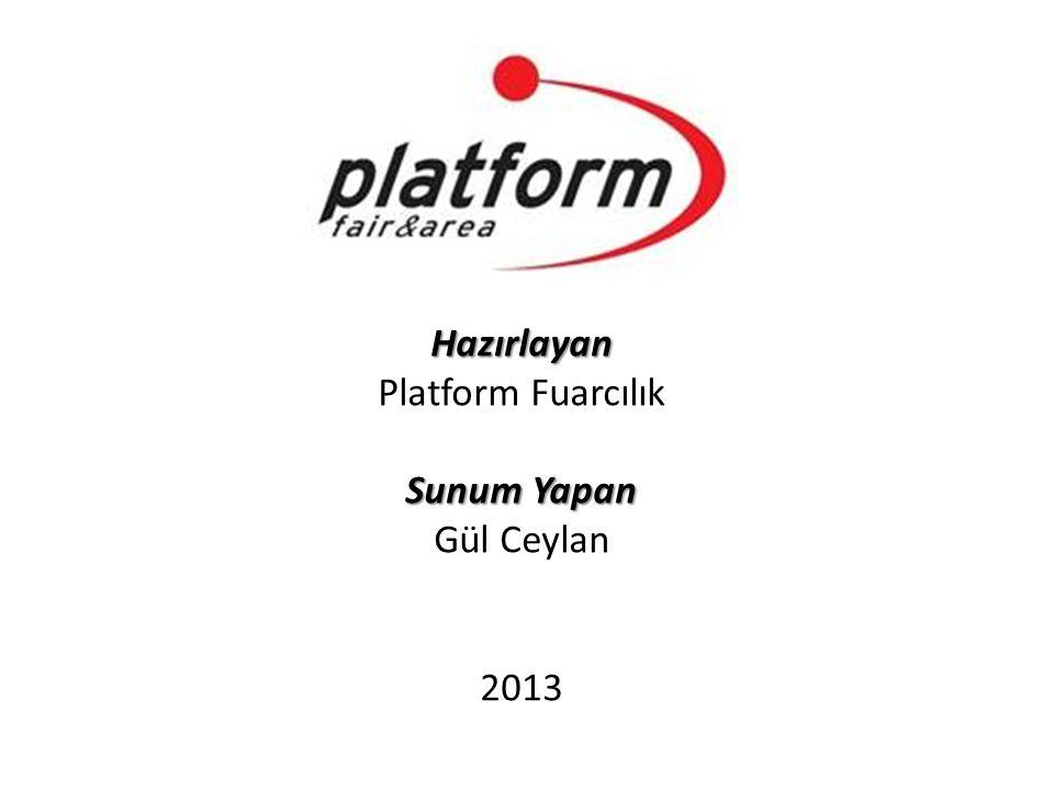 Hazırlayan Platform Fuarcılık Sunum Yapan Sunum Yapan Gül Ceylan 2013