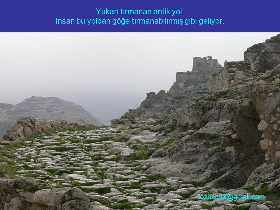 Yukarı tırmanan antik yol. İnsan bu yoldan göğe tırmanabilirmiş gibi geliyor. fozhan53@gmail.com