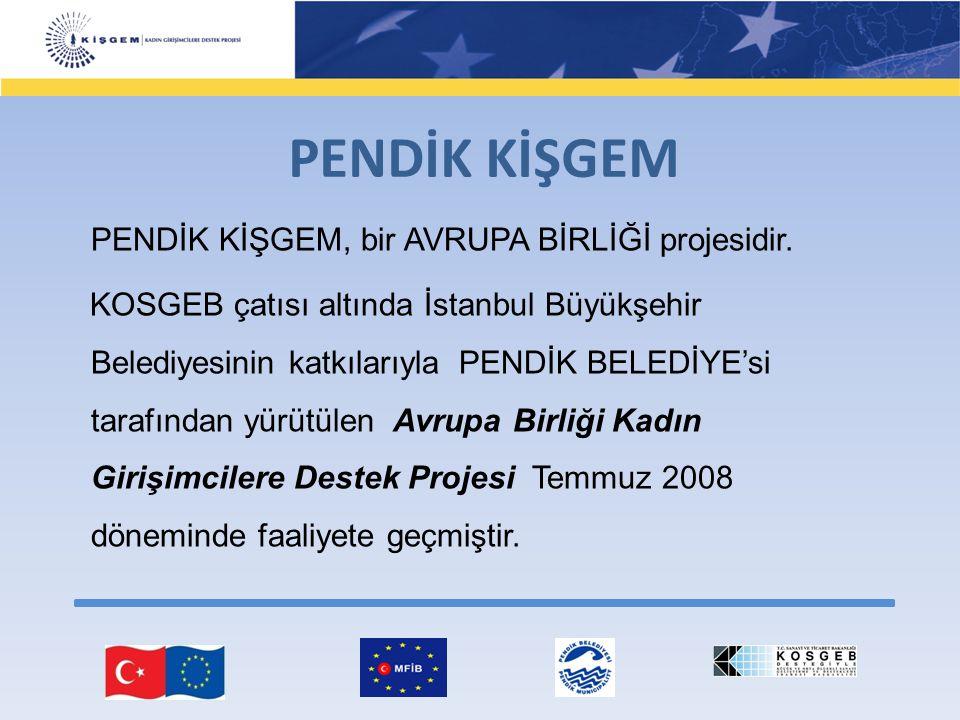 PENDİK KİŞGEM PENDİK KİŞGEM, bir AVRUPA BİRLİĞİ projesidir. KOSGEB çatısı altında İstanbul Büyükşehir Belediyesinin katkılarıyla PENDİK BELEDİYE'si ta