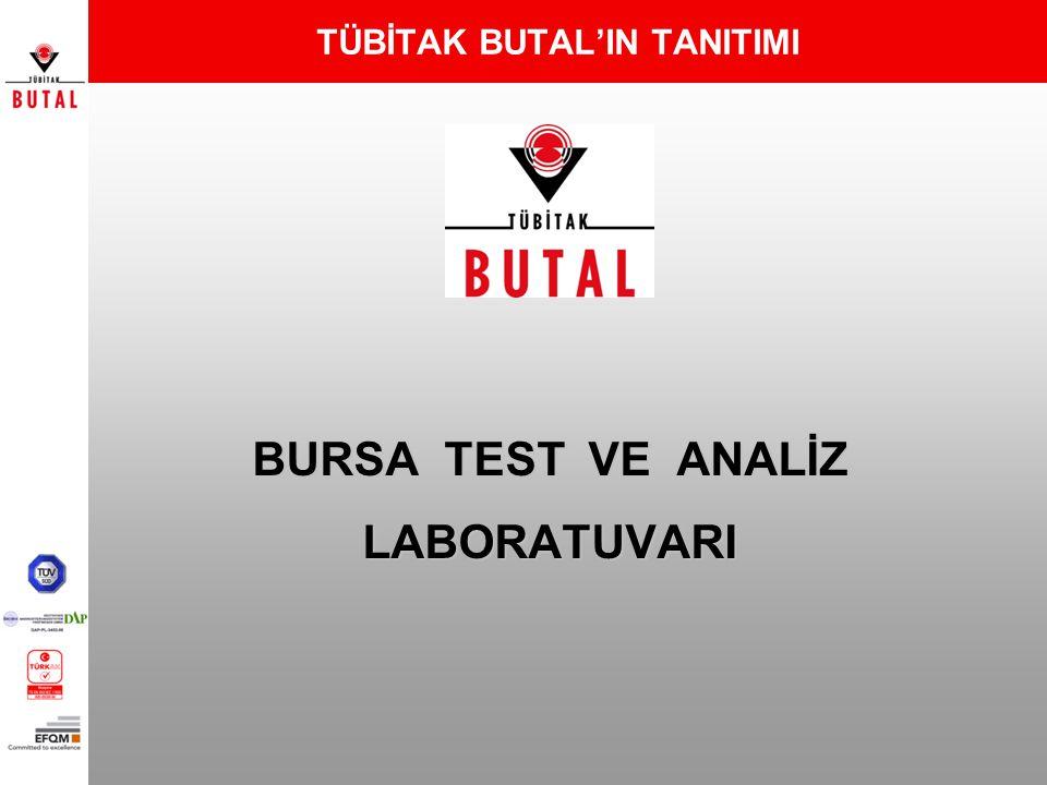 TÜBİTAK BUTAL'IN TARİHÇESİ 01.11.1972 Sümerbank bünyesinde Tekstil Eğitim ve Araştırma Merkezi (TEAM) olarak Bursa'da kurulmuş olup 1983 yılında Müessese unvanını almıştır.