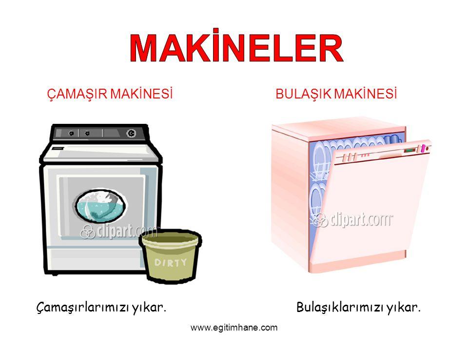BULAŞIK MAKİNESİÇAMAŞIR MAKİNESİ Çamaşırlarımızı yıkar.Bulaşıklarımızı yıkar. www.egitimhane.com