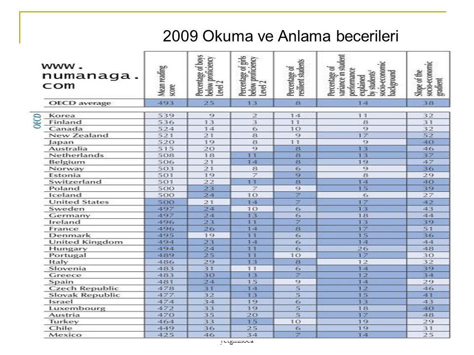 yetginhoca 2009 Okuma ve Anlama becerileri
