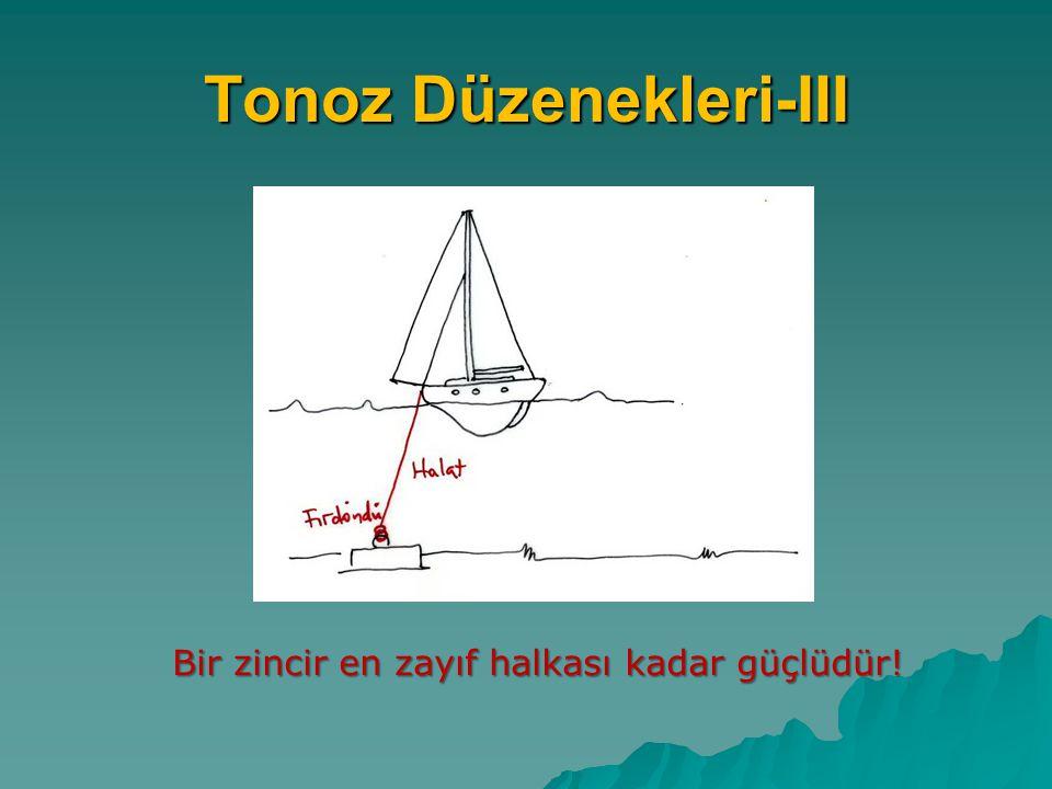 Tonoz Düzenekleri-III Bir zincir en zayıf halkası kadar güçlüdür!