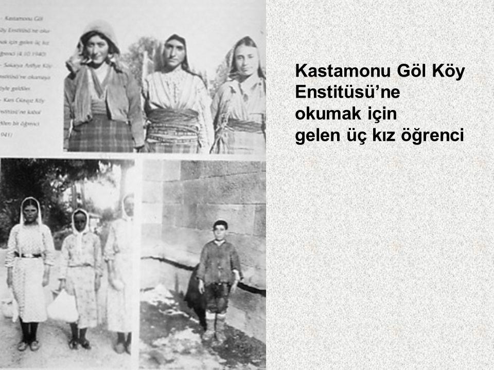 Köy Enstitüsü yönetici Ve öğretmenleri Konya İvriz Köy Enstitüsü'nde ilk öğretmen ailesiyle