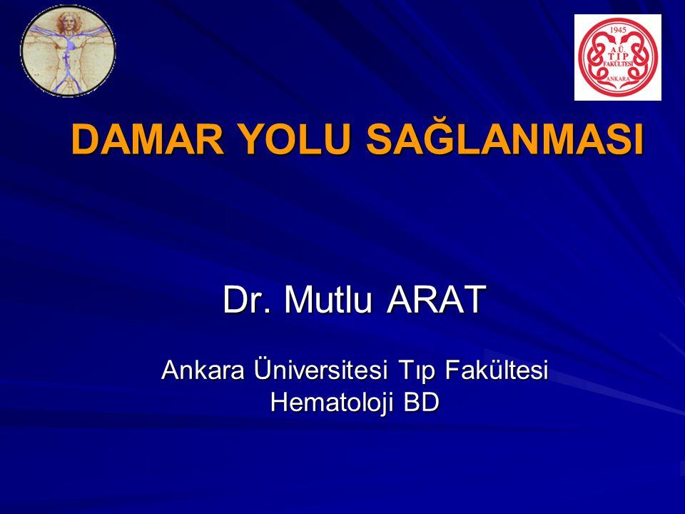 DAMAR YOLU SAĞLANMASI Dr. Mutlu ARAT Ankara Üniversitesi Tıp Fakültesi Hematoloji BD