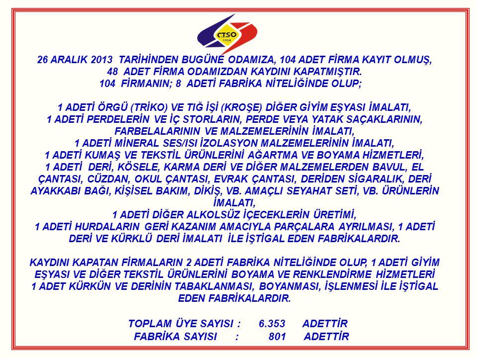 ÇORLU TSO 6.MESLEK KOMİTESİNDEN ÜYELERİNE ZİYARET Odamız Meclis Başkanı Metin Akgün, 6.